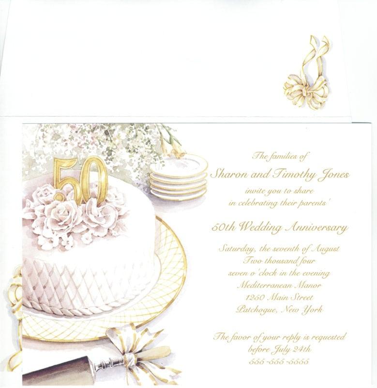 50 Anniversary Invitation