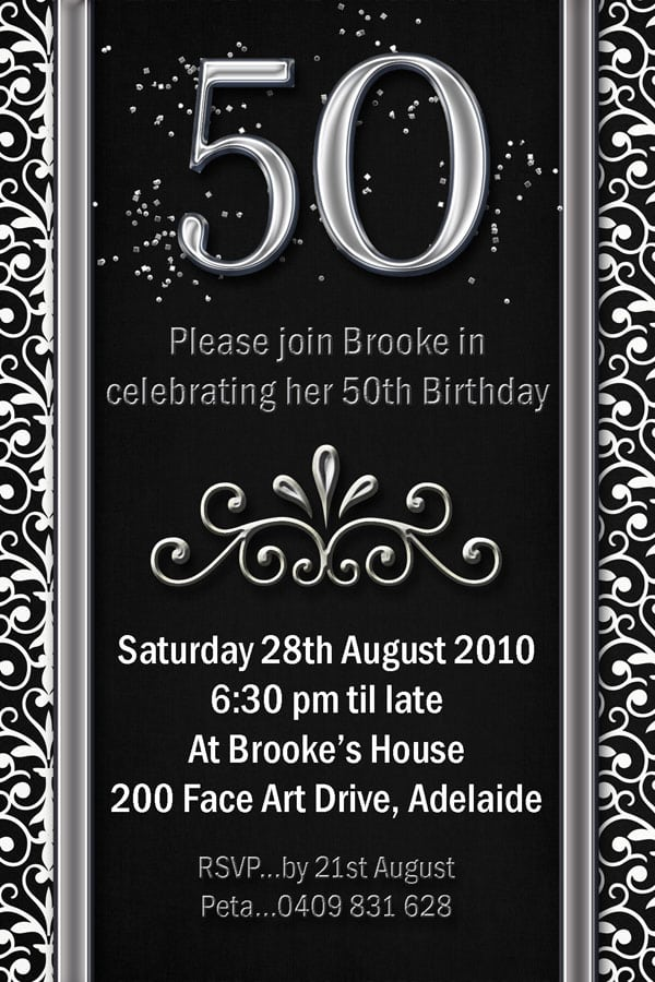 50th Birthday Invitation Male