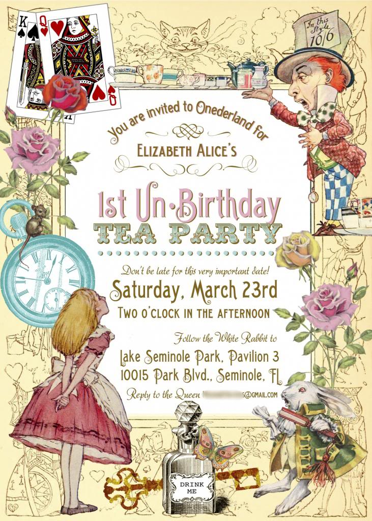 Alice In Wonderland Invitation