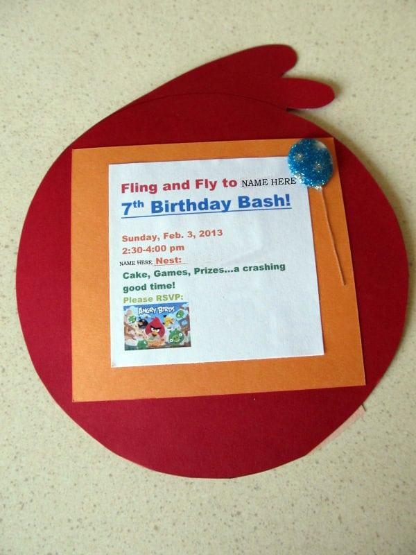 Angry Birds Birthday Invitation Template