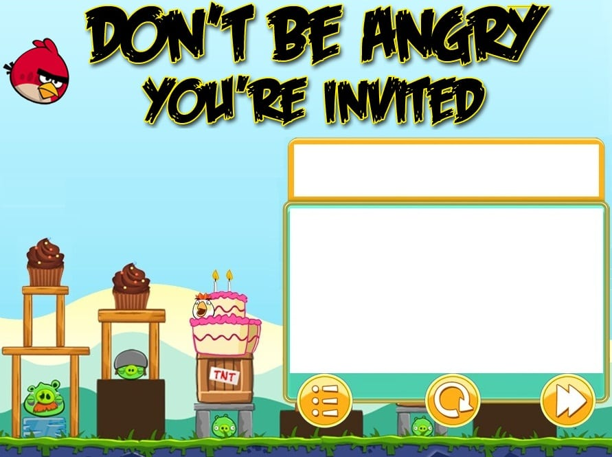 Angry Birds Invitation Cards