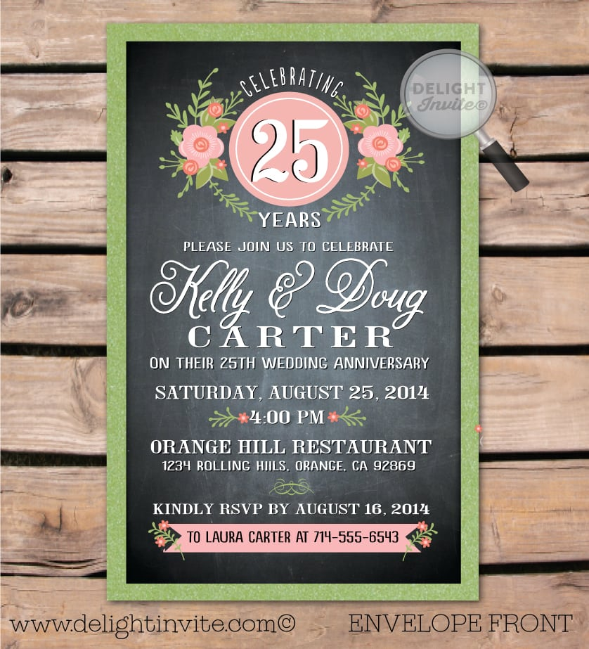 Anniversary Party Invitation Wording