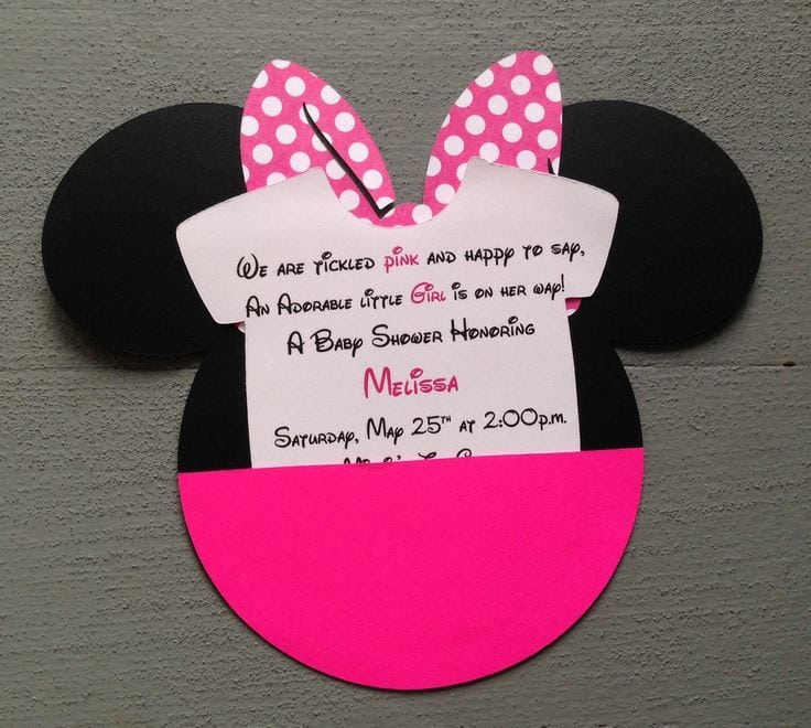 Baby Minnie Mouse Invitations Baby Shower