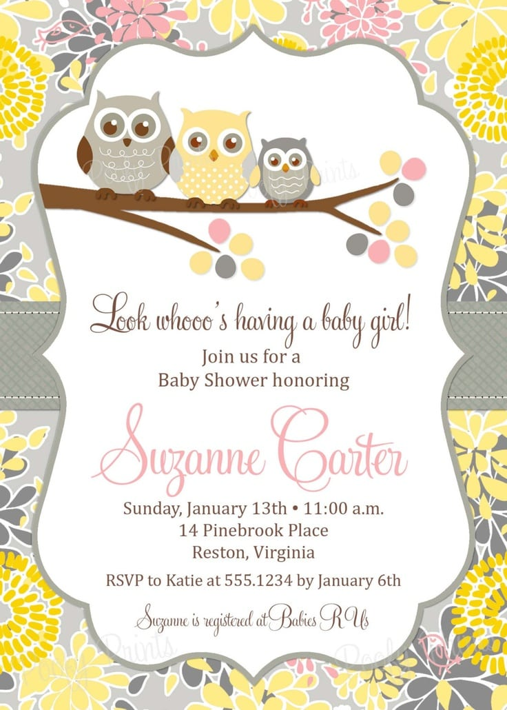 Baby Shower Invitation Templates Free Email