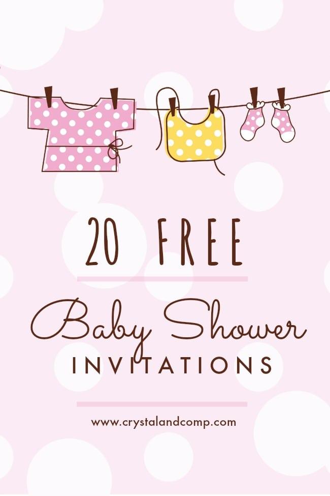 Baby Sprinkle Invitations Free