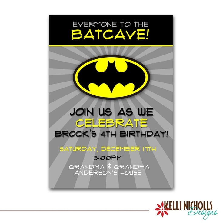 Batman Birthday Invitation Maker