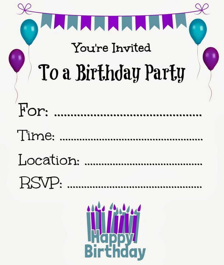 Birthday Invitation For Girls