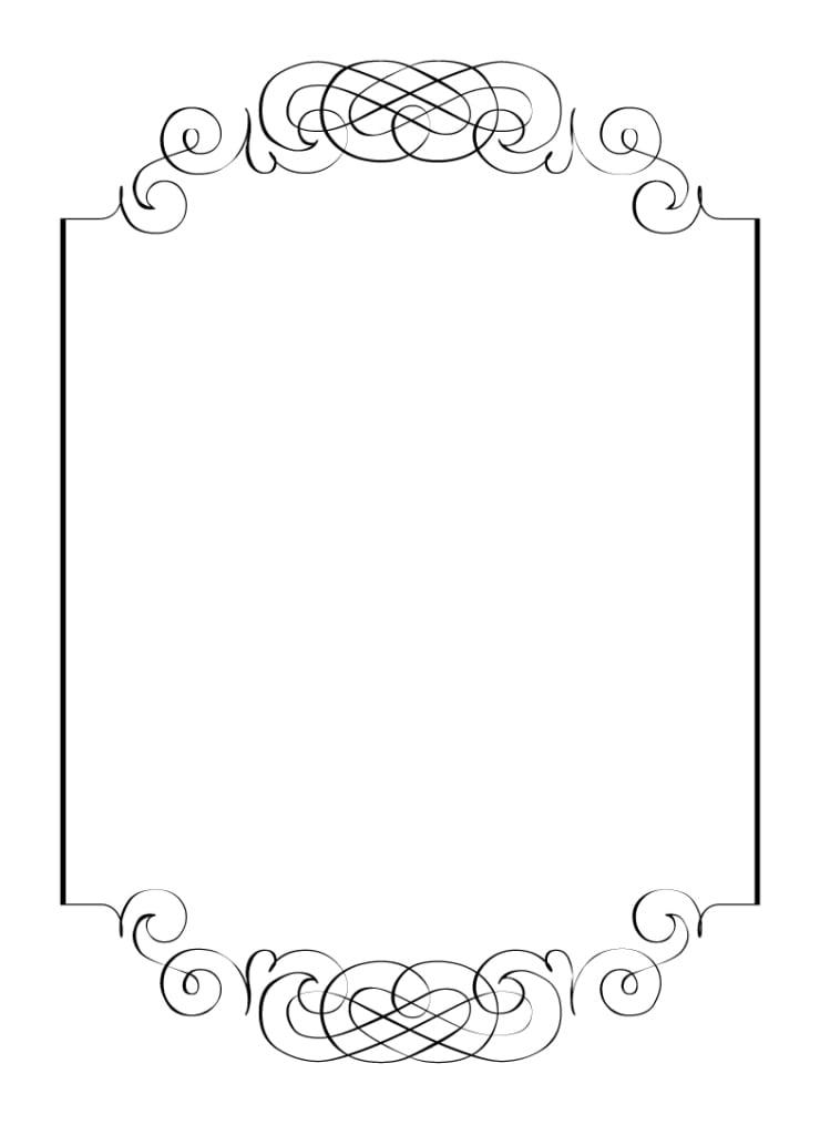 black and white invitation template