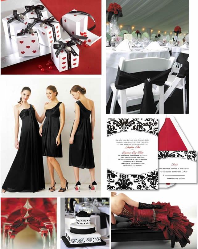 Black White And Red Wedding Invitation Ideas
