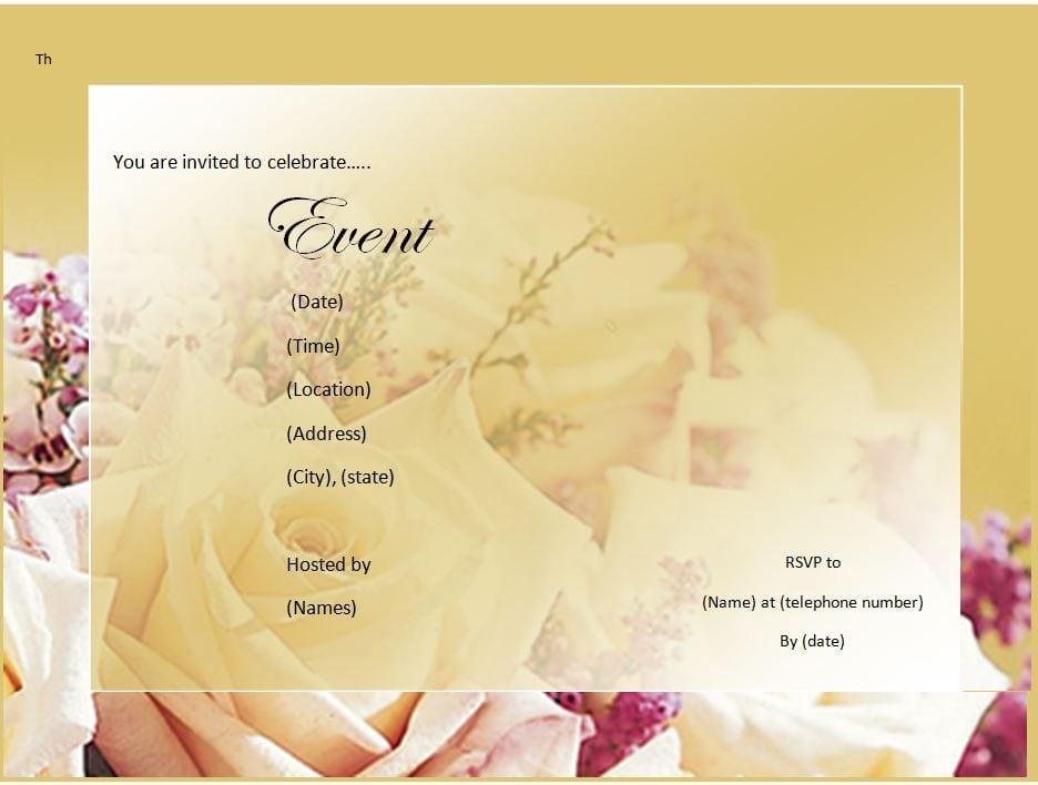 Free download invitation templates