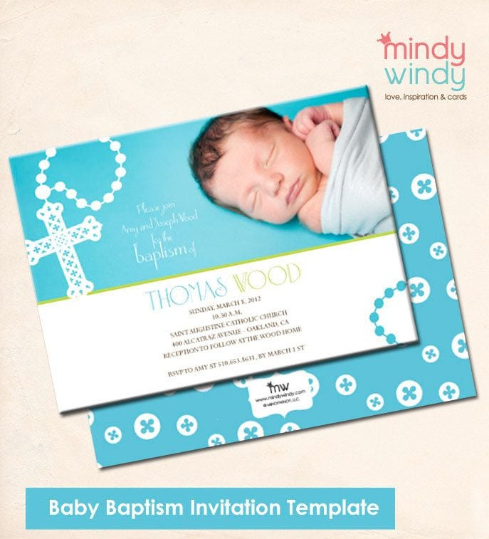 Boy Baptism Invitation Templates