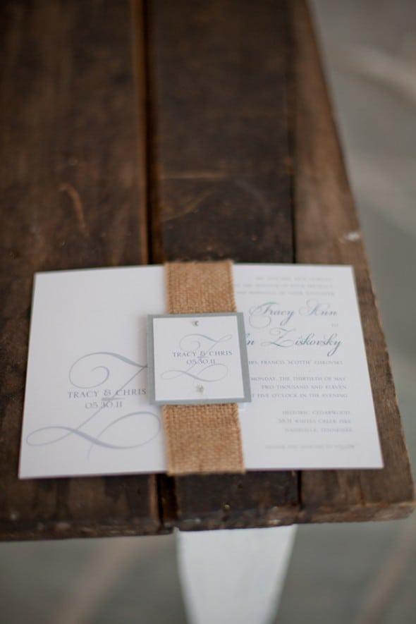Burlap Wedding Invitations Cheap