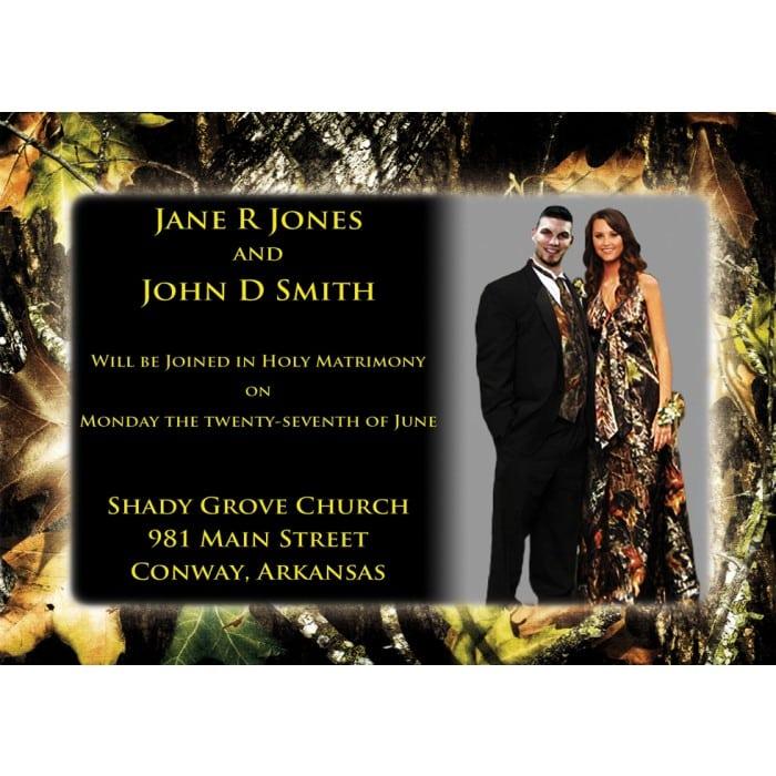 Camo Wedding Invitations Cheap