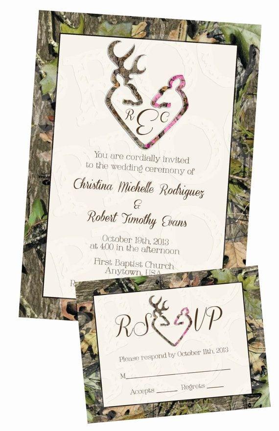 Camo Wedding Invitations Templates