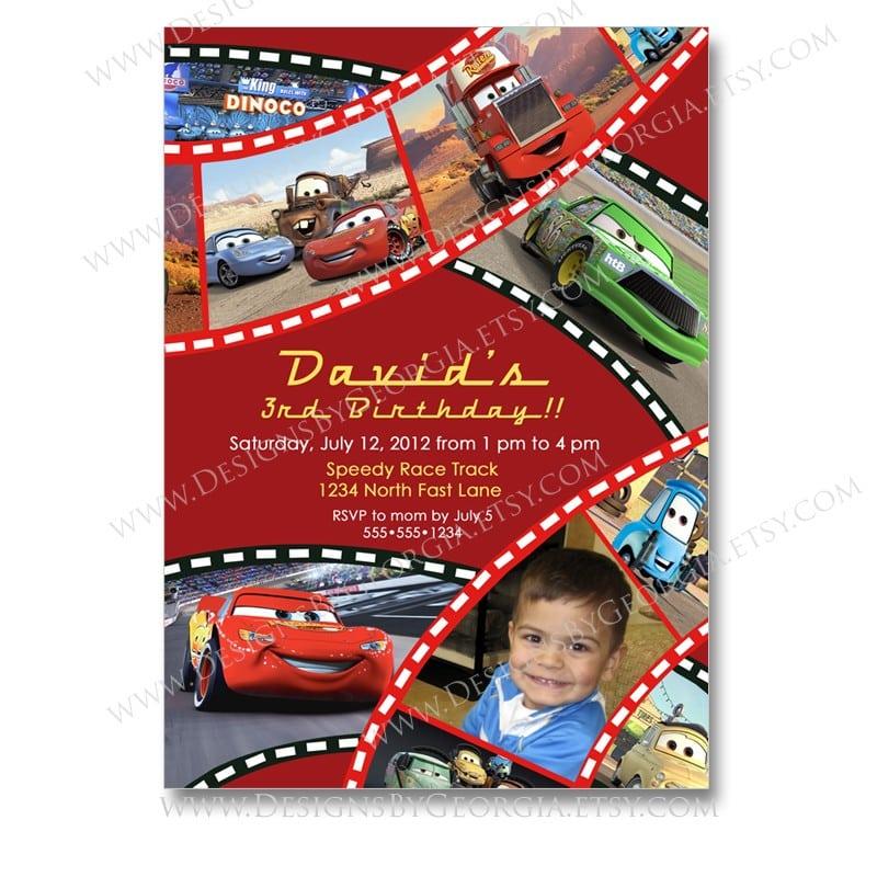 cars birthday invitation templates Josemulinohouseco