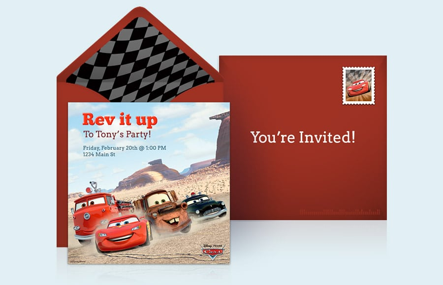 Cars Birthday Invitations Online
