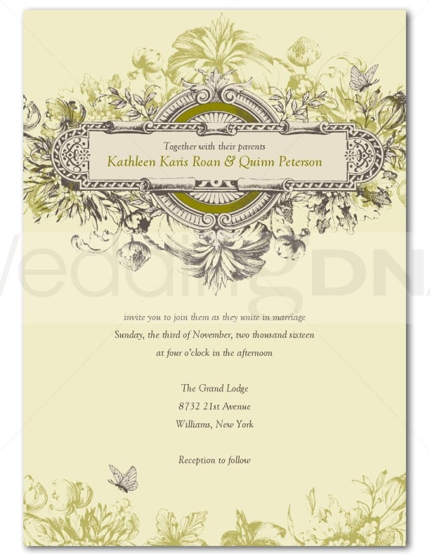 Christian Wedding Invitation Templates