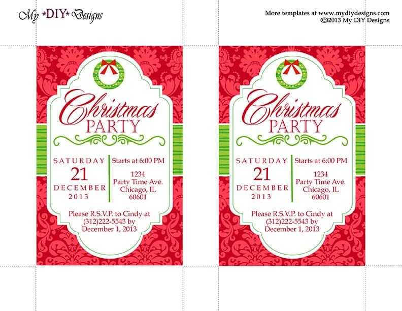 Christmas Invitation Free