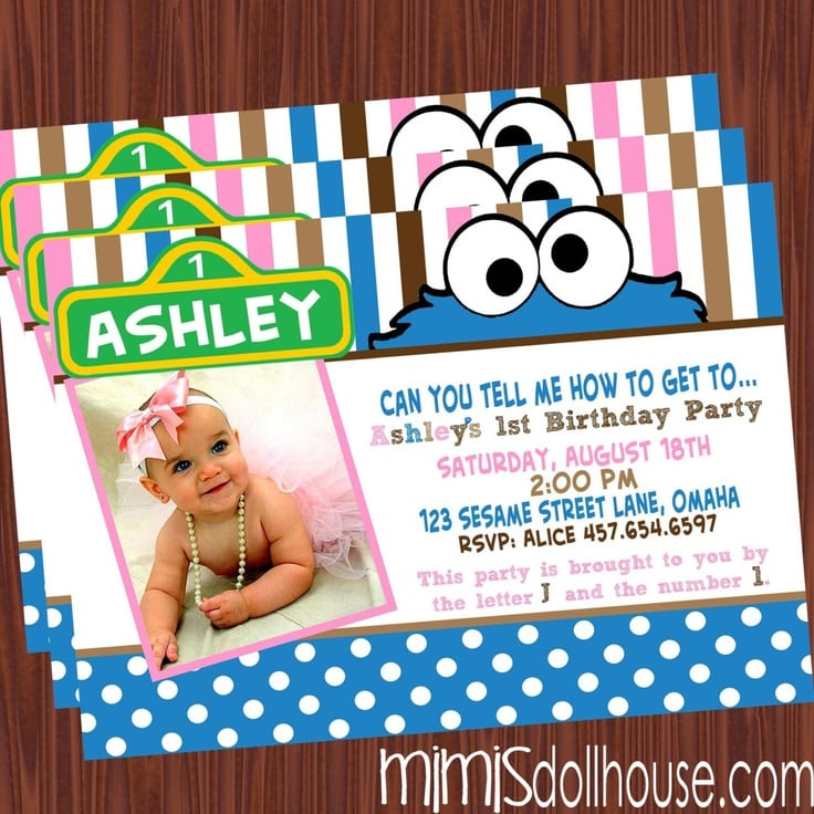 Cookie Monster Invitations Sale