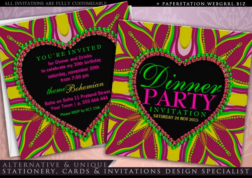 Dinner Party Invitations Online