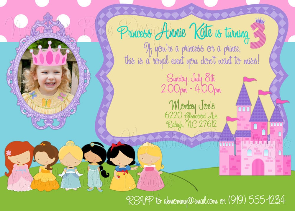 Disney Princess Invitations Birthday