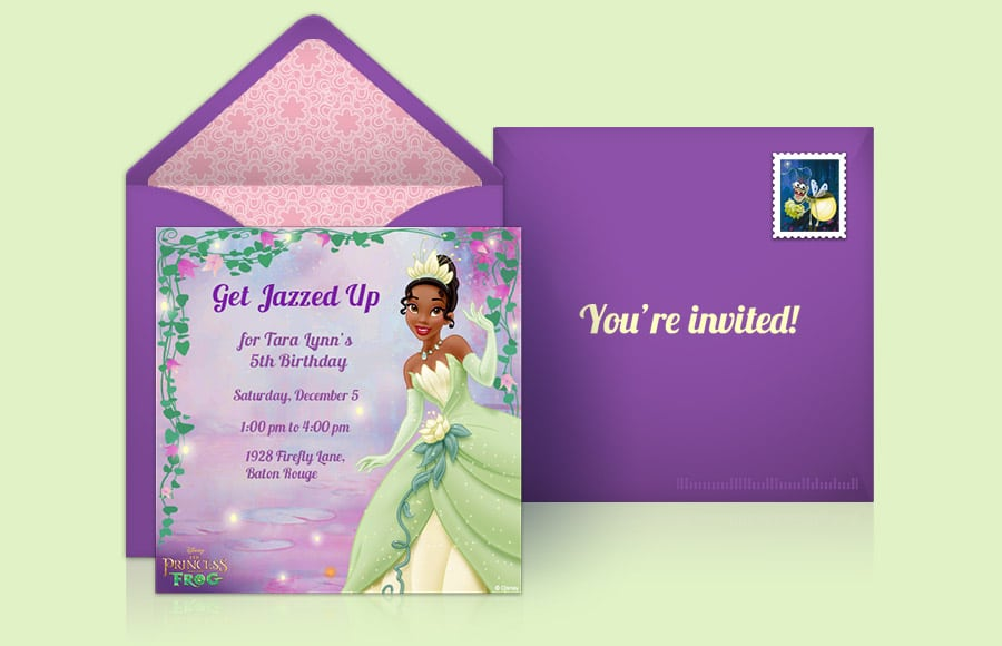Disney Princess Party Invitations Amazon