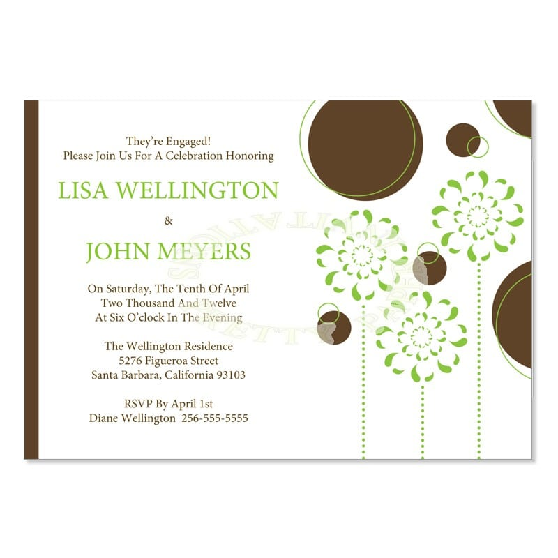 Diy Engagement Party Invitations Ideas
