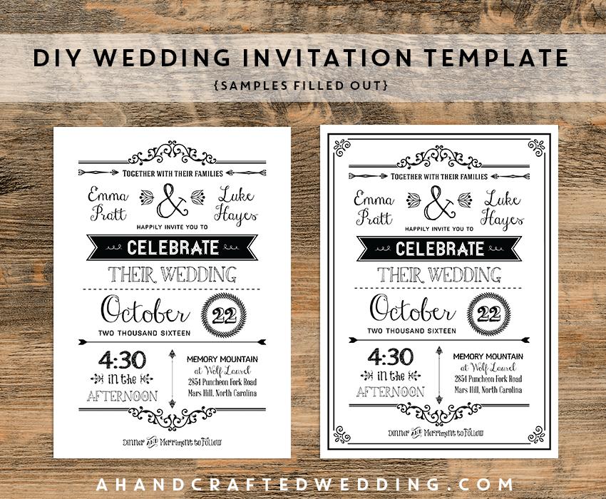 Diy Rustic Wedding Invitation Templates Free