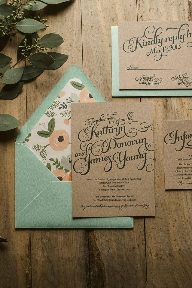 Diy Rustic Wedding Invitations Pinterest
