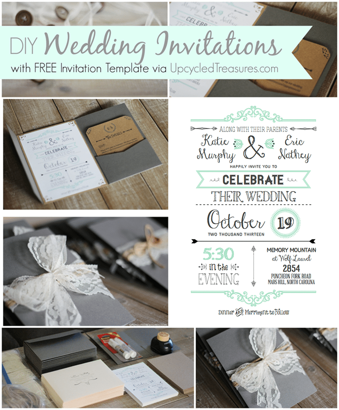 Diy Wedding Invitation Templates Free