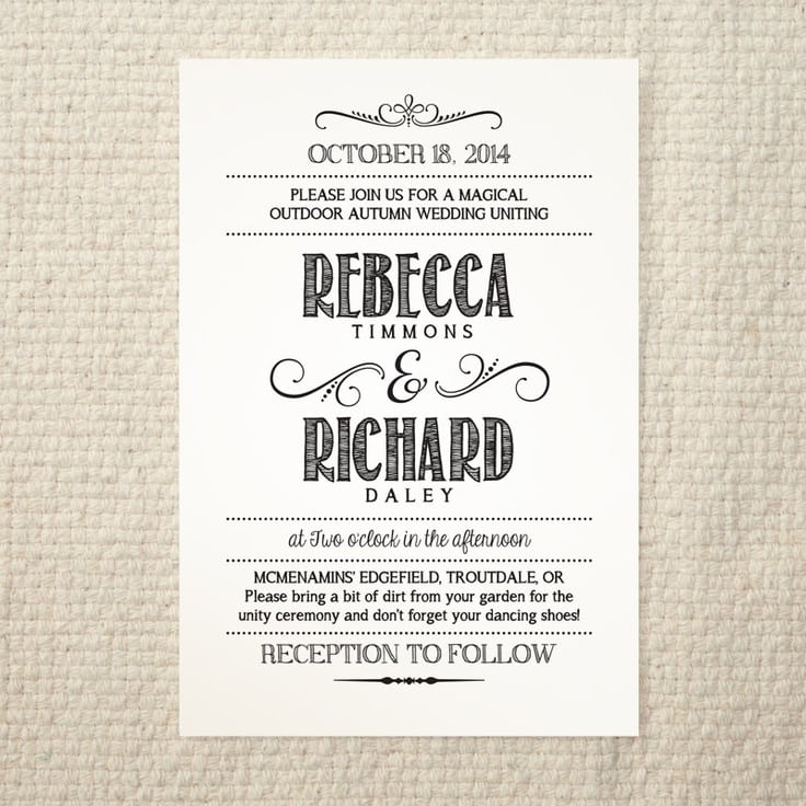 Diy Wedding Invitation Templates Word
