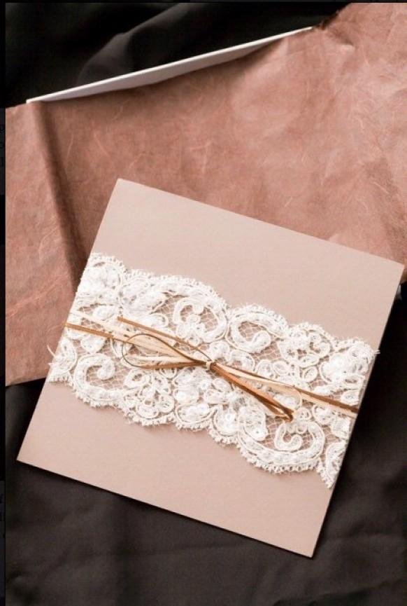 Diy Wedding Invitation With Lace