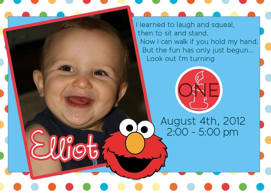 Elmo Birthday Invitations Online