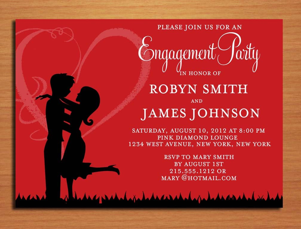 Engagement Invitation Template Online