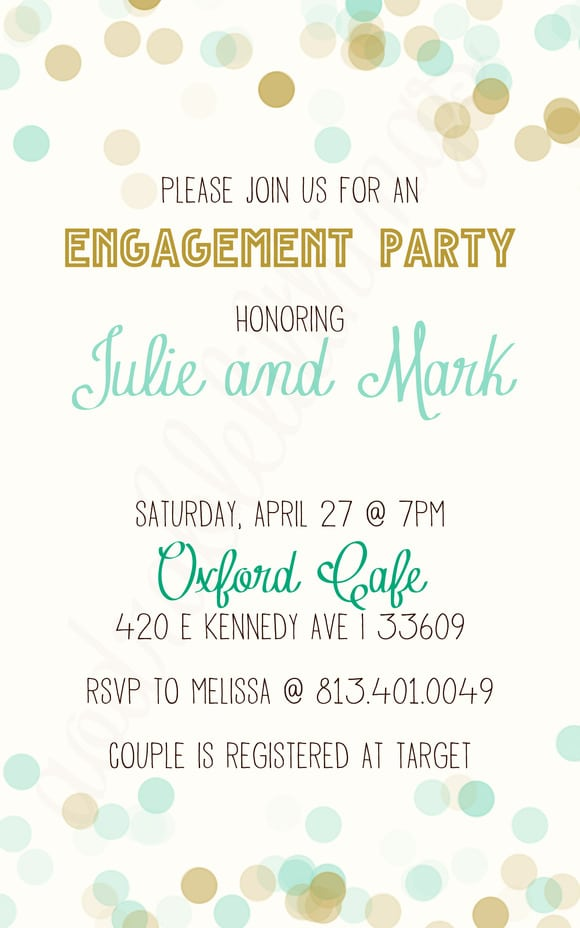 Engagement Invitation Templates Free