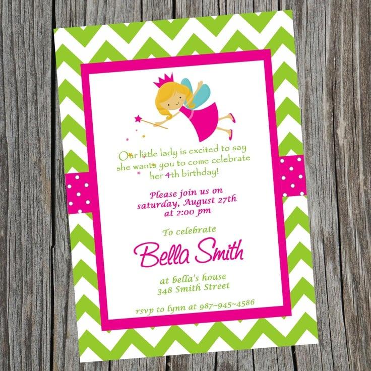 Fairy Princess Party Invitations Printable