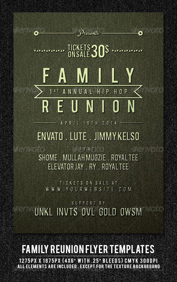 family reunion invitations templates free download printable family