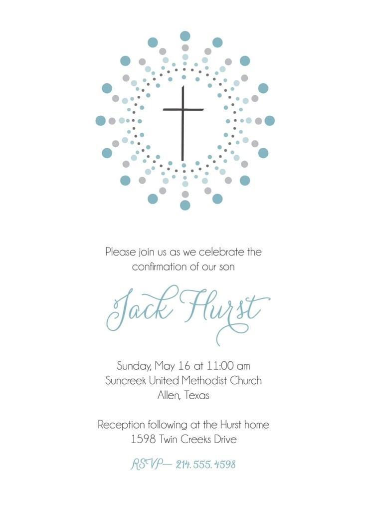 First Communion Invitations Boy