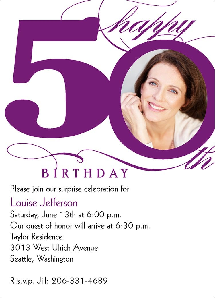 Free 50th Birthday Invitation Designs
