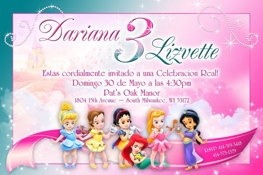 Free Disney Princess Party Invitation