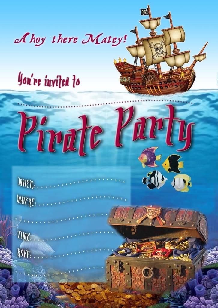 free editable pirate invitation