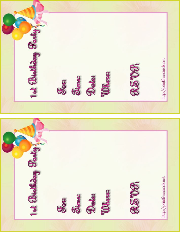 Free Printable Birthday Invitation For Boys