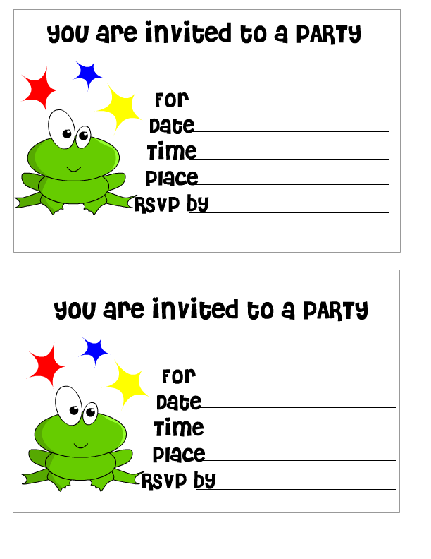 Free Printable Birthday Invitation For Kids