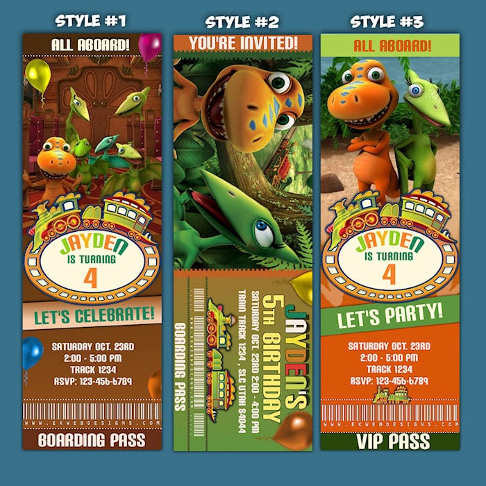 Free Printable Dinosaur Train Invitations