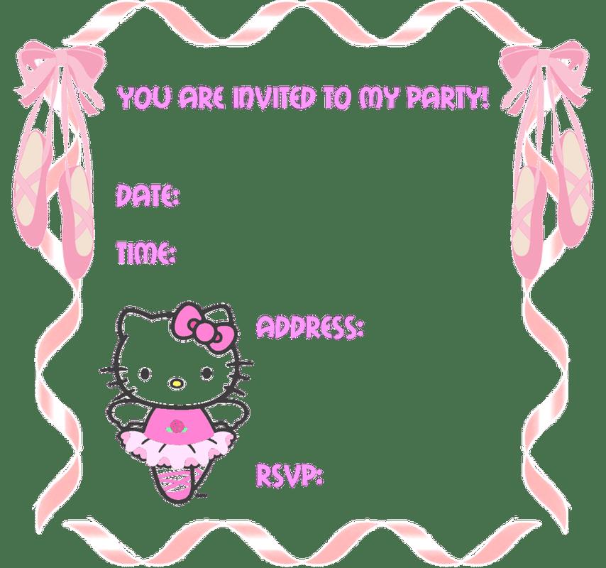 Free Hello Kitty Printable Birthday Invitation