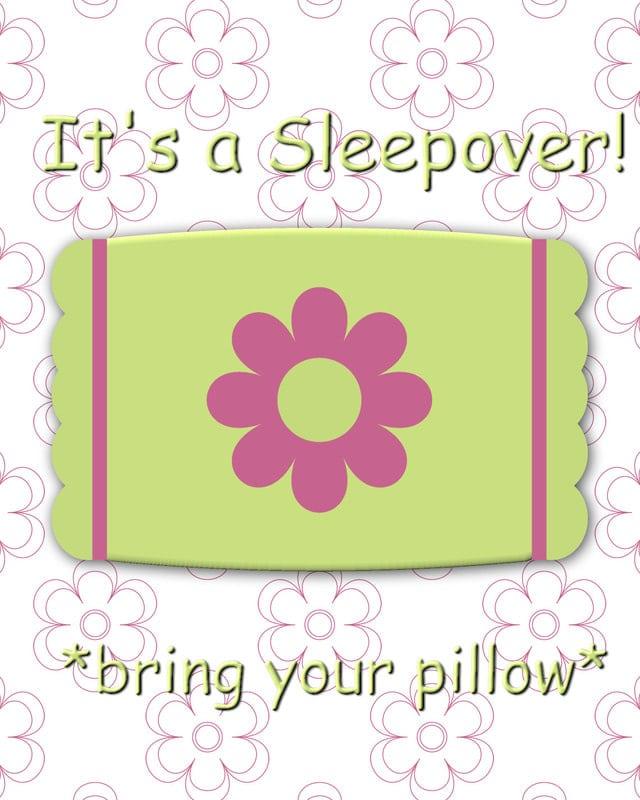 Free Printable Slumber Party Invitation For Kids