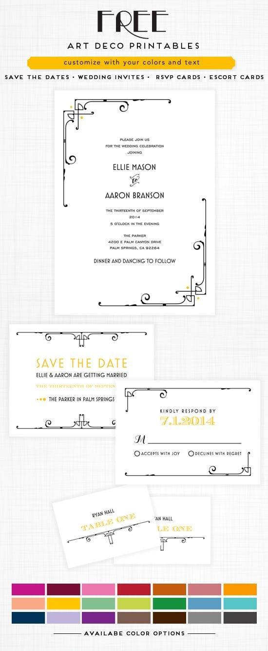 Free Printable Wedding Invitation Suites