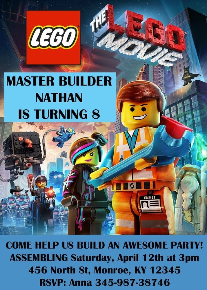 free lego birthday party invitations printable - Picture Ideas ...