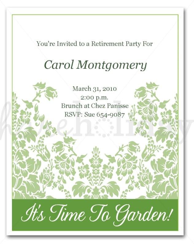 Free Retirement Party Invitation Templates