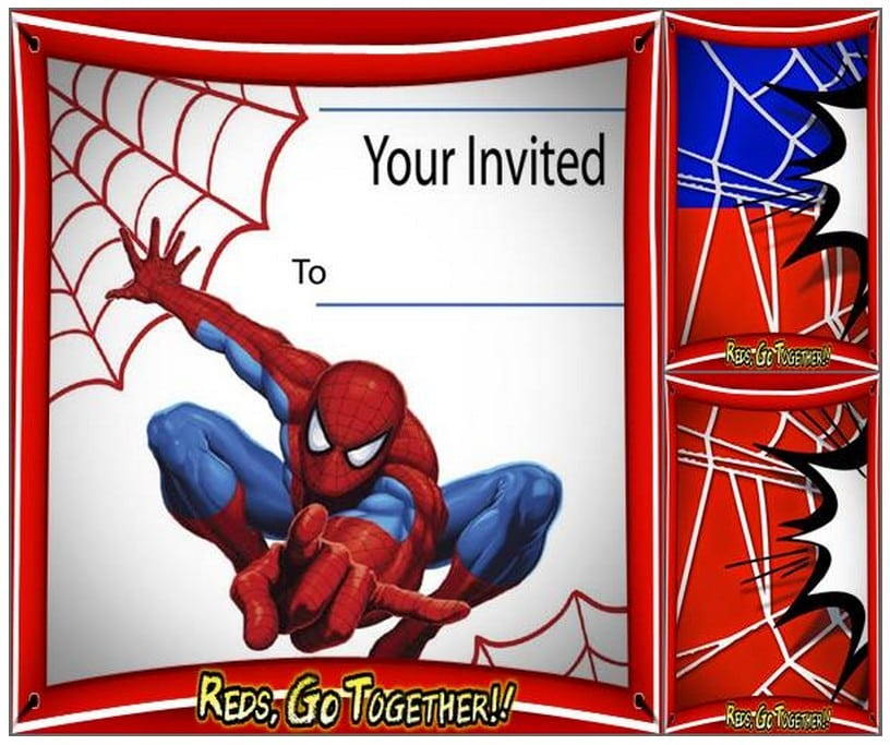 Free Spiderman Birthday Invitation Printable